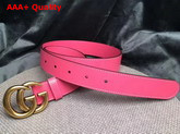 Gucci Leather Belt Leather with Double G Buckle Pink Calfskin Replica