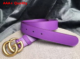Gucci Leather Belt Leather with Double G Buckle Purple Calfskin Replica