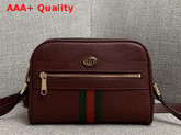 Gucci Ophidia Mini Bag in Burgundy Leather 517350 Replica 517350
