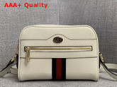 Gucci Ophidia Mini Bag in White Leather 517350 Replica 517350