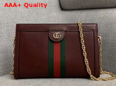 Gucci Ophidia Small Shoulder Bag in Burgundy Leather 503877 Replica 503877