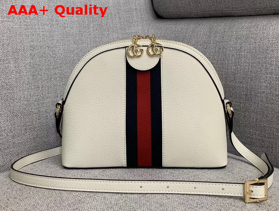 Gucci Ophidia Small Shoulder Bag in White Leather 499621 Replica 499621