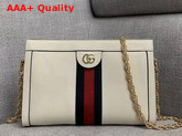 Gucci Ophidia Small Shoulder Bag in White Leather 503877 Replica 503877