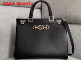 Gucci Zumi Grainy Leather Medium Top Handle Bag in Black Grainy Leather 564714 Replica 564714