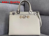 Gucci Zumi Grainy Leather Medium Top Handle Bag in White Grainy Leather 564714 Replica 564714