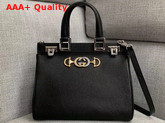 Gucci Zumi Grainy Leather Small Top Handle Bag in Black 569712 Replica 569712