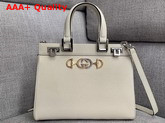 Gucci Zumi Grainy Leather Small Top Handle Bag in White 569712 Replica 569712