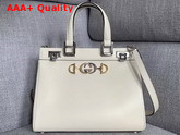 Gucci Zumi Smooth Leather Small Top Handle Bag in White Smooth Leather 569712 Replica 569712