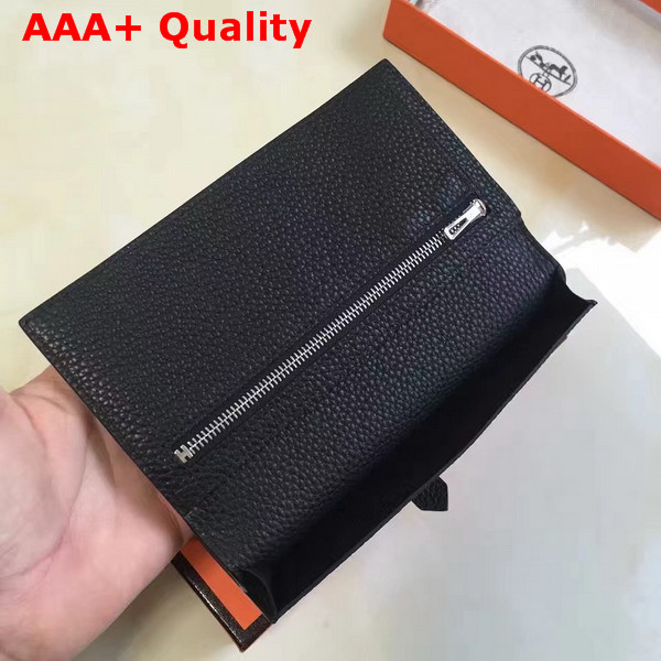 Hermes Bearn Wallet in Black Togo Leather Replica