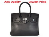 Hermes Birkin 25 Black Replica