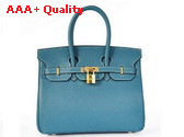 Hermes Birkin 25 Light Blue Gold Replica