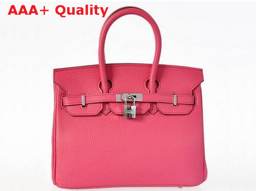 Hermes Fake Hermes Birkin 25 Peach Leather Silver Hardware Replica