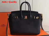 Hermes Birkin 25 with Shoulder Strap Black Togo Leather Replica