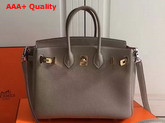 Hermes Birkin 25 with Shoulder Strap Grey Togo Leather Replica