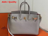 Hermes Birkin 25 with Shoulder Strap Light Grey Togo Leather Replica