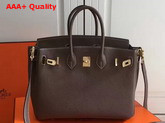 Hermes Birkin 25 with Shoulder Strap Taupe Togo Leather Replica