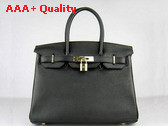Hermes Birkin 30 in Black with Silver Replica