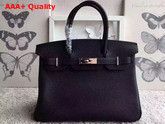 Hermes Birkin 30 in Black Togo Leather with Silver Lock Replica