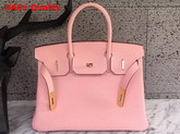 Hermes Birkin 30 in Pink Togo Leather with Gold Lock Replica