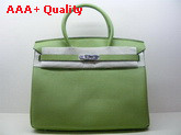 Hermes Birkin 35 Apple Green Togo Leather With Silver Replica