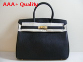 Hermes Birkin 35 in Black Togo Leather Replica