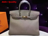 Hermes Birkin 35 Grey Togo Leather Gold Hardware Replica