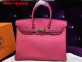 Hermes Birkin 35 Hot Pink Togo Leather Gold Hardware Replica