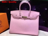 Hermes Birkin 35 Pink Togo Leather Gold Hardware Replica