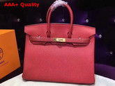 Hermes Birkin 35 Red Togo Leather Gold Hardware Replica