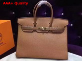 Hermes Birkin 35 Tan Togo Leather Gold Hardware Replica