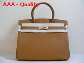 Hermes Birkin 35 Tan Togo Leather With Gold Replica