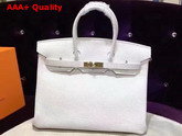 Hermes Birkin 35 White Togo Leather Gold Hardware Replica