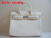 Hermes Fake Hermes Birkin 35 White Togo Leather With Silver Replica