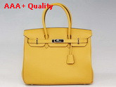 Hermes Birkin 35 Yellow Togo Leather With Silver Replica