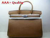 Hermes Birkin 40 In Tan Togo Leather With Silver Replica