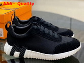Hermes Bouncing Sneaker in Black Technical Canvas Replica