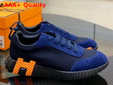 Hermes Bouncing Sneaker in Blue Technical Canvas Replica