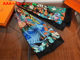Herems Carnaval Des Oiseaux Scarf 140 Green Replica