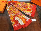 Herems Carnaval Des Oiseaux Scarf 140 Orange Replica