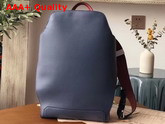 Hermes Cityback 27 Backpack in Navy Blue and Red Taurillon Cristobal Leather Replica