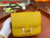 Hermes Constance 18 Bag in Yellow Epsom Calfskin Replica