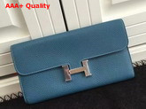 Hermes Constance Wallet Blue Togo Leather Replica