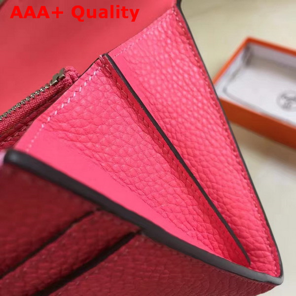 Hermes Constance Wallet Hot Pink Togo Leather Replica