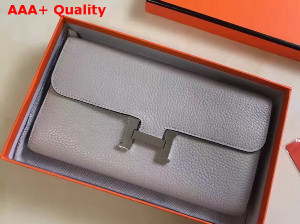 Hermes Constance Wallet Light Grey Togo Leather Replica