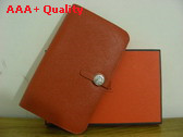 Hermes Dogon Combined Wallet Orange Replica