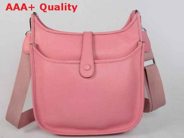 Hermes Evelyne Bag In Pink Leather Replica