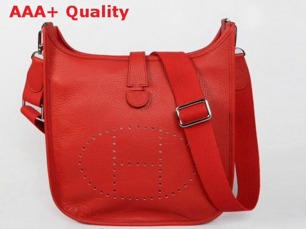 Hermes Evelyne Bag In Red Leather Replica