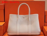 Hermes Garden Party 30 Bag in Beige Taurillon Clemence Leather Replica