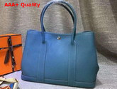 Hermes Garden Party Bag in Light Blue Togo Leather Replica