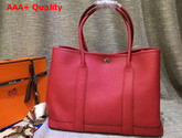 Hermes Garden Party Bag in Red Togo Leather Replica